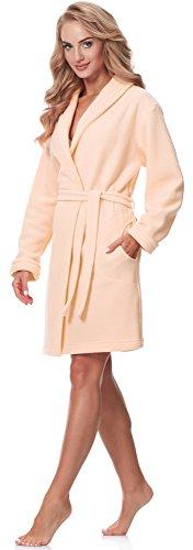 Merry Style Donna Accappatoio con collo sciallato 2M1N52LL1 Albicocca