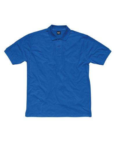 SG Herren Baumwolle Polo Shirt Blau - Königsblau