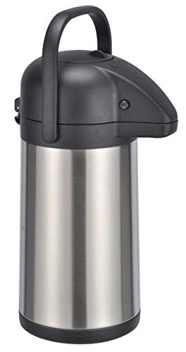 bonsport Airpot Kaffeekanne 2,2 Liter mit Pumpmechanismus, Pumpkanne doppelwandig aus Edelstahl