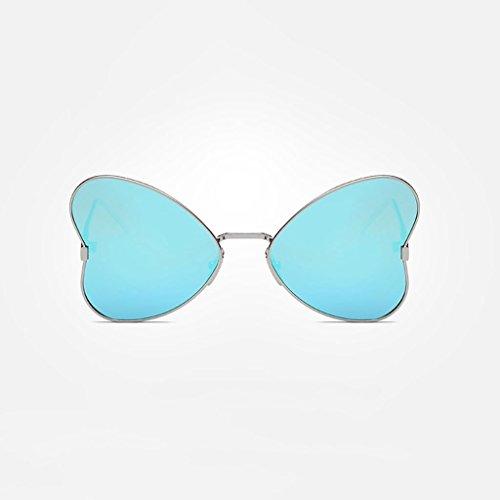 MWPO Polarisierte Sonnenbrille New Women 's Butterfly Style im freien Fahren straße pat Fotografie Brille (Farbe: Silber Rahmen eisblau linse)