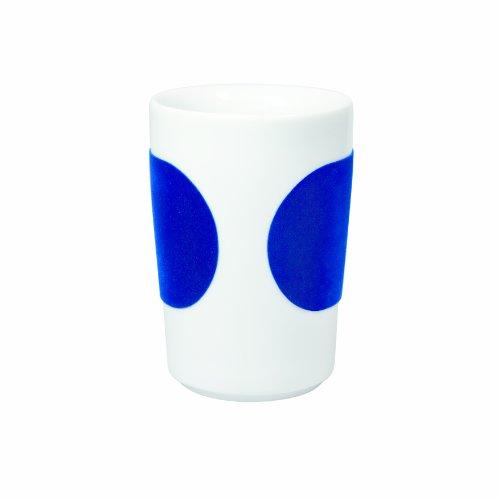 Kahla - Porcelaine pour les Sens 394605A24120C Touch Five Senses Grand Gobelet à Café Bleu Foncé 8 x 11,5 cm