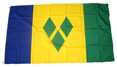 Fahne / Flagge St. Vincent & Grenadinen NEU 90 x 150 cm