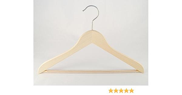 schwarz 38cm Holzbügel für Anzüge und Zweiteiler mit Steg breit 5 Stück NEU