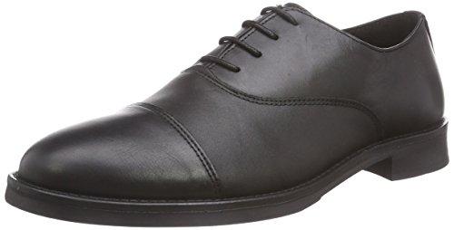 Selected Shdmarc Leather Shoe Noos, Oxford stringata uomo, Nero (Black), 44