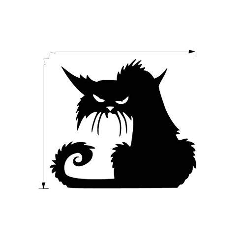 Goosuny Halloween Wandtattoo Schwarze Katze 3D Vinyl Wandaufkleber Tiere Entfernbar Dekor Abziehbilder Zum Wände Aufkleber Personalisierte Wandsticker Für Türen