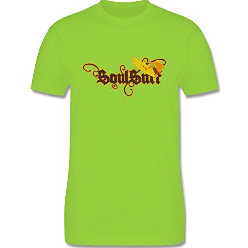 Wassersport - Surfer - Herren Premium T-Shirt Hellgrün