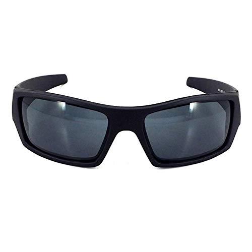 Sonnenbrille Driving Square Frame Super Dark Polarisierte Sportbrille mit Wickeleffekt Hellschwarzviolett Quecksilber C5 Outdoor - Hellschwarzgrau