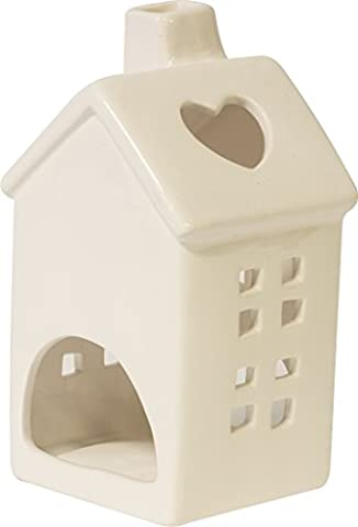 Ivyline Keramik House telight Halter, weiß, Keramik House telight Halter, 7,5x 7x 13,2cm,, 0, chthw