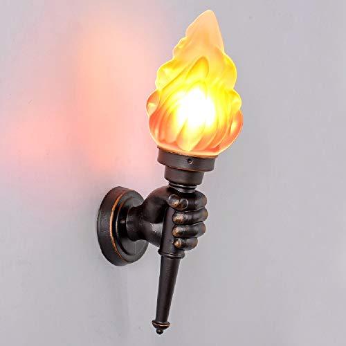 Tritow Amerikanische Retro Wandleuchte Kreative Bar Restaurant Dekoration Cafe Gang Fackel Licht Außenwandleuchte Wandleuchte (Größe : Left Hand)
