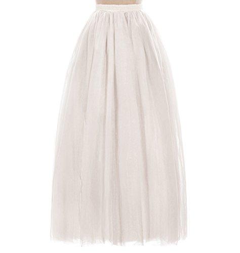 Babyonline Wedding bridal Bodenlang Petticoat Reifrock Unterrock Petticoat Underskirt Crinoline für 50s Vintage Kleid XL (Sie Auf Seide Ziehen Rock)