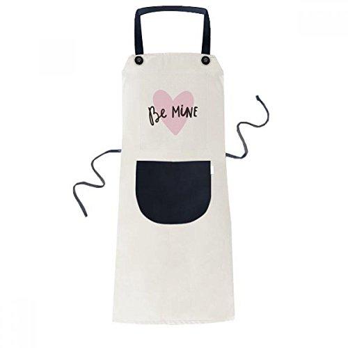 DIYthinker Seien Sie Meine Rosa-Zitat Hundwrite Schürze Koch Lätzchen Beige Küche Taschen 70cm x 67cm Schwarz - Meine Rosa Schürze
