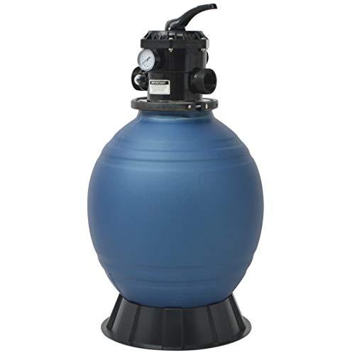 vidaXL Sandfilter für Schwimmbad 18Zoll 460mm Blau Sand Filterkessel Poolfilter