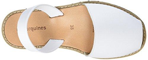 Minorquines Avarca, Scarpe Col Tacco con Cinturino a T Donna Blanc (Blanco1)