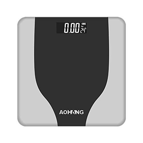 Bluelover Ooudoorholmark Elektronisch LCD Digital Körpergewicht Waage Fitness Fett Gesunde Schönheit - Silber