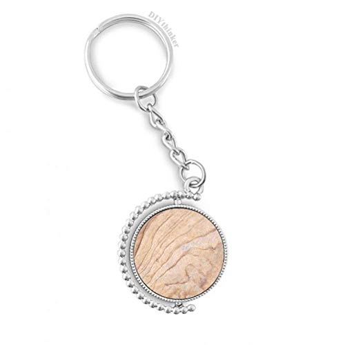 DIYthinker Mosaik-Stein Textur Elegante Wellenmuster Drehbare Schlüsselanhänger Ringe 1.2 Zoll x 3.5 Zoll Mehrfarbig