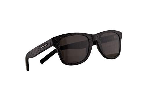 Saint Laurent SL51 Sonnenbrille Schwarz Leder Mit Grauen Gläsern 50mm 027 SL 51