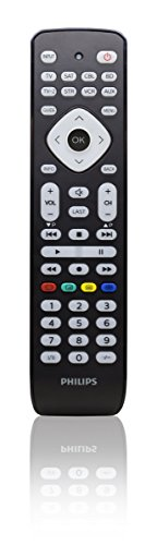 Philips SRP2018/10 Universal Fernbedienung (8-in-1, TV, TV2, Blu-ray, CBL, SAT, STR, VCR, Aux) schwarz Philips Sat-tv