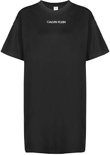 Calvin Klein Damen S/S Nightshirt Nachthemd, Schwarz (Black 001), Medium (Herstellergröße: M) - La-la-nachthemd