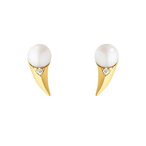 georg-jensen-pendientes-de-mujer-de-oro-amarillo-con-redondo-perla-blanco