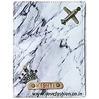 I Love Fashion Slim & Sleek Marble White Passport Cover