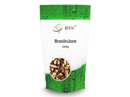 Paranüsse 1 kg - Brasilnüsse 1000 g - Vegan - Paranusskerne/Nüsse ohne Bruch - Rohkost-Qualität...