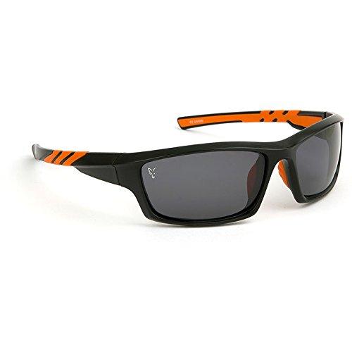 Fox Sunglasses Black Orange wraps grey lense - Polbrille zum Waller & Karpfenangeln, Polarisationsbrille zum Angeln, Angelbrille