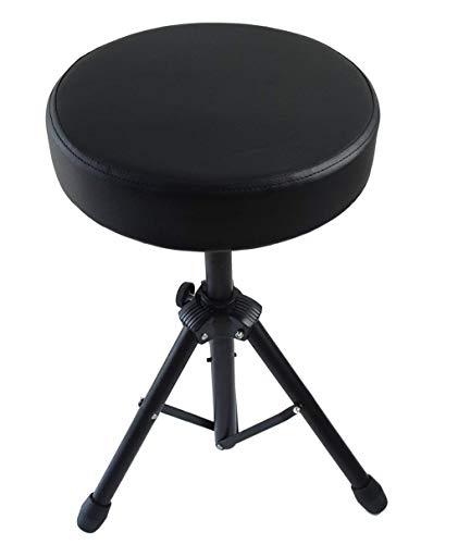 Bearhouse Schlagzeughocker Drum Hocker Drumhocker mit Gepolstertem Drummersitz Höhenverstellbar