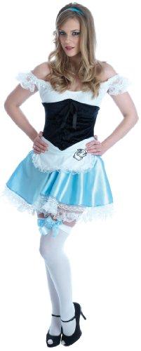 Alice - erwachsenes Abendkleid-Kostüm - (Wonderland Kostüme Rabbit)