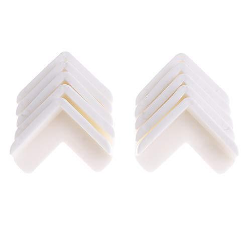 Baoblaze 10Pack Möbel Kantenschutz Eckschutz Silikon Eckenschützer Kantenschutzwinkel für Baby Kindersicherung - Weiß (Weiß Baby-möbel)