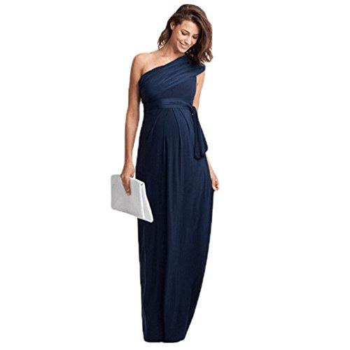 Binhee estate donna incinta senza maniche marea elegante lungo maxi abbigliamento premaman