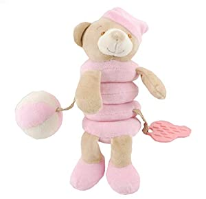 Duffi Baby- Peluche Espiral Osito, 100% Poliéster, Color Rosa (Master Baby Home, S.L. 0763-06)