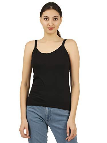Nestos Women's Cotton Camisole (Beige, White, Black, XXL)