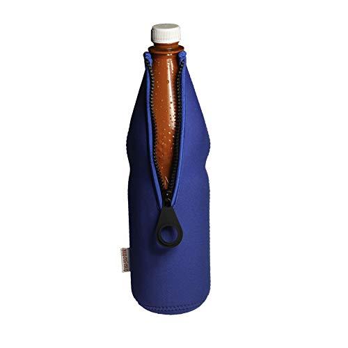 DRESS-YOUR-DRINK Flaschenkühler 0,7-1,0L für Glas- & PET Flaschen, Neopren, Getränkekühler, (blau, 1) -