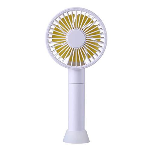 CAOQAO Mini Pliant Portable Silencieux Ventilateur De Poche USB Ventilateur, RéGlable Ventilateur Portable Rechargeable,pour Maison, La Marche, La RandonnéE, Le Camping,Blanc