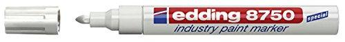 edding Lackmarker edding 8750 industry paint marker, 2-4 mm, weiß