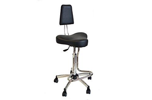 Uni-form sagabello regolabile con appoggiapiede regolabile in altezza con sedile e schienale imbottito