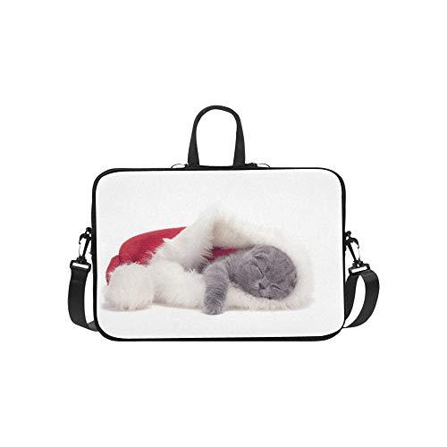 Christmas schottischen Falten Kitty mit Santa Foto -