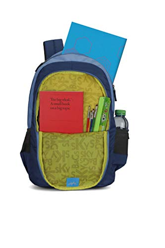 Best skybags backpack in India 2020 Skybags Beatle 01 27 Ltrs Blue Casual Backpack (Beatle 01) Image 5