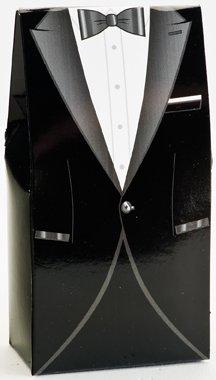Club Green Tuxedo Suit Box, Noir, 50 x 30 x 100 mm, Lot DE 10
