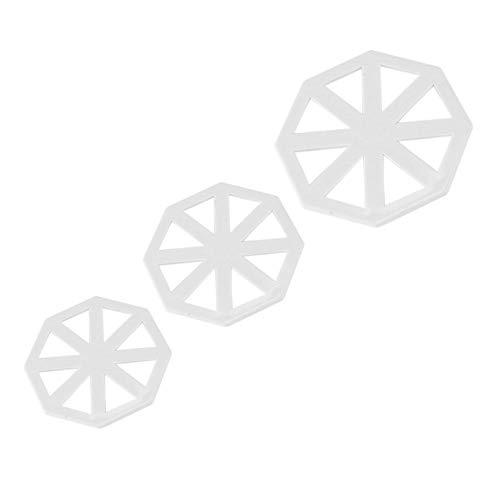 Zerodis 1Set Fondant Kuchenform Ausstecher Kunststoff für Torten Kuchen Dekoration Dreieckige Flagge DIY Werkzeug