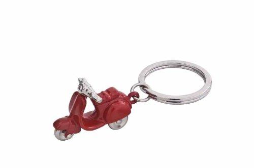 Preisvergleich Produktbild Schlüsselanhänger Motorroller Rot Schlüsselring Schlüssel Ring Schlüssel Anhänger
