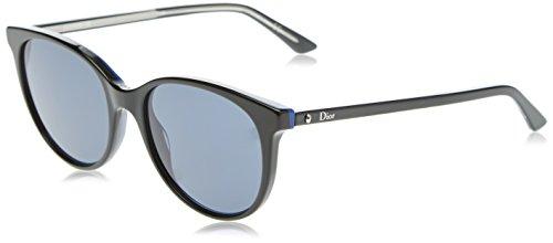 Dior Damen MONTAIGNE16S KU MV3 Sonnenbrille, Schwarz Black Crystal/Blue Avio, 53