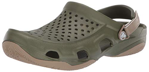 crocs Herren Swiftwater Deck Men Clogs, Grün (Army Green/Khaki 354), 42/43 EU -