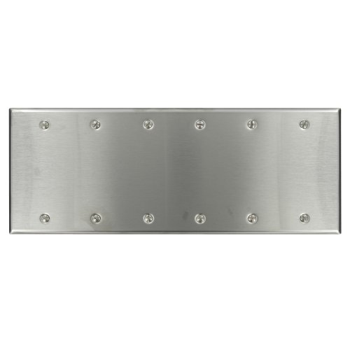 leviton-84066-40-6-gang-no-device-blank-wallplate-standard-size-box-mount-stainless-steel-by-leviton