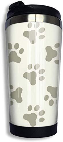 14oz Edelstahl Kaffeetasse Katze oder Hund Paw Seaml Pattern Vector Image Vakuumisolierte Reisebecher Auslaufsichere Begleittasse