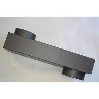 Rauchrohr, Ofenrohr Kastenknie ø 150 / 2mm #288 gussgrau