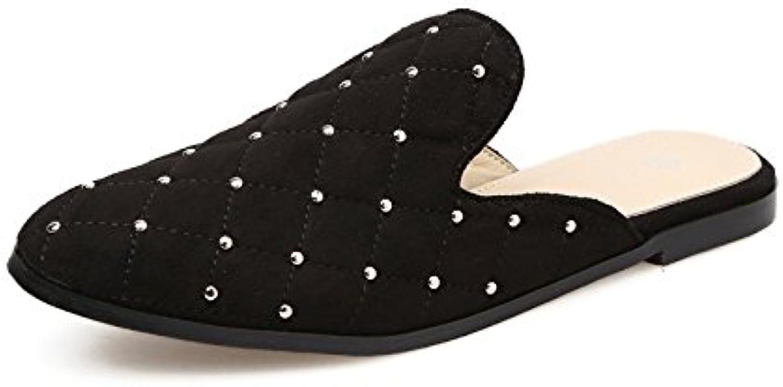 GTVERNH-summer pantofole baotou rivetti donna donna donna forte pantofole tempo libero abbigliamento semi nero 39   adottare  30f1f6