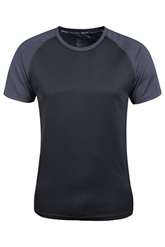 Mountain Warehouse Endurance Mens T-Shirt – Breathable All Season Tee, UPF30 Protection, Lightweight Shirt, Comfortable & Quick Drying Top - for Gym, Travelling, Running