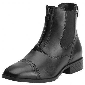 ARIAT Damen Reitstiefelette CHALLENGE SQUARE TOE Zip PADDOCK (mit Reißverschluß vorne), schwarz, 5.5 (38.5) (Square Ariat Toe ')