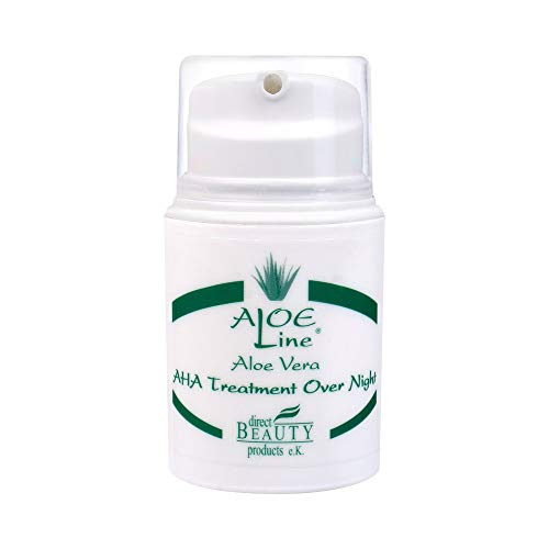 Aloe Vera AHA Treatment Over Night 'ALOE Line' (50ml) | mit Aloe Vera, Jojobaöl, Panthenol,...